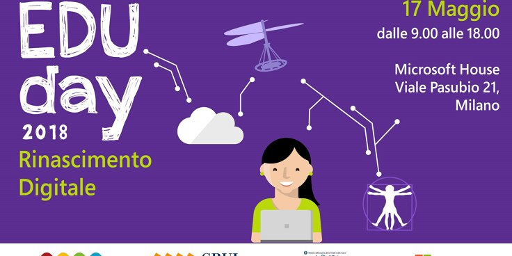 #EduDay 2018: De Agostini e weDRAW partner dell'evento Microsoft