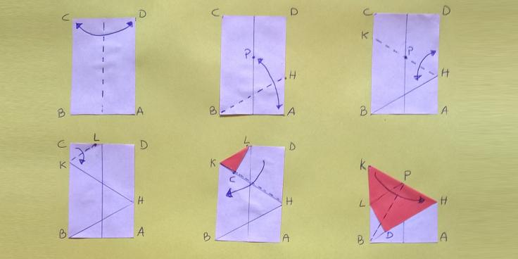 Origami e geometria: la squadretta da 30°-60°-90° per completare il kit da disegno!