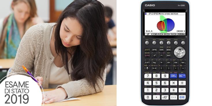 La seconda prova scritta di Matematica e Fisica con l'uso della calcolatrice grafica CASIO FX-CG50